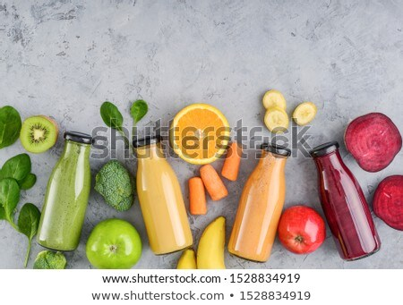 green apple and yellow banana  Stock photo © Grazvydas