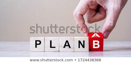 Plan b 3D gegenereerde foto teken succes Stockfoto © flipfine