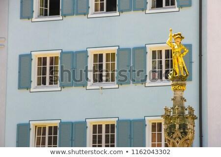 statue of bishop in freiburg stock photo © meinzahn