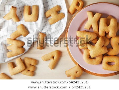 The Letter Word TASTY. Alphabet  Cookie Biscuits Stock photo © vinnstock