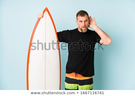 Listening and surfing. Stock photo © Fisher