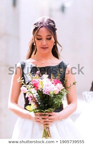 Mariée passage mariage visage amour mode Photo stock © Paha_L