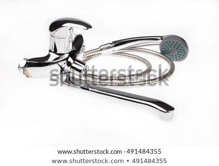 metal · cromo · agua · mezclador · aislado · construcción - foto stock © user_9834712