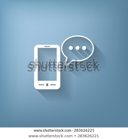Mobile phone icon with highlight stock photo © Oakozhan