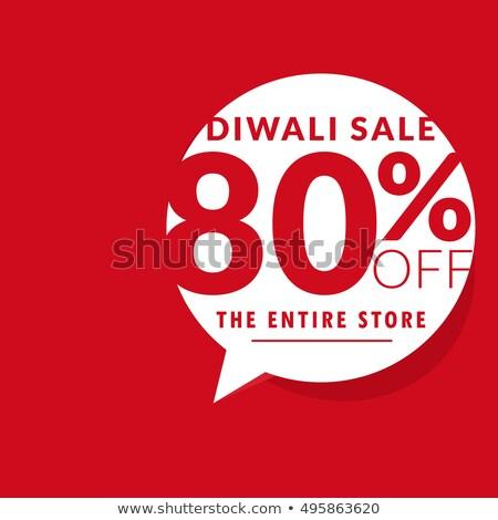 Limpio diwali venta ofrecer plantilla chatear burbuja Foto stock © SArts