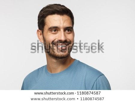 Adam bakıyor yan beyaz yüz Stok fotoğraf © wavebreak_media