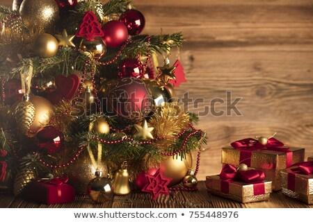 Natal bugiganga dom árvore bokeh luzes Foto stock © frannyanne
