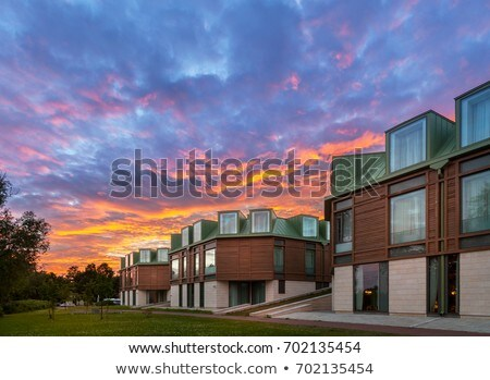 Three storey house made of wood Stock photo © colematt