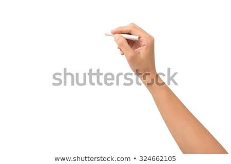 follia · frecce · mano · disegno · bianco · gesso - foto d'archivio © ra2studio