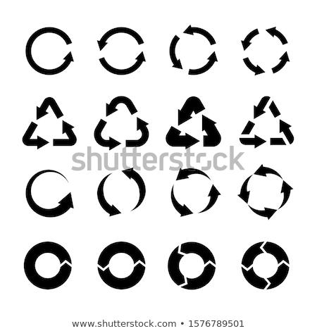Nyilak ki vektor ikon logo szimbólum Stock fotó © blaskorizov