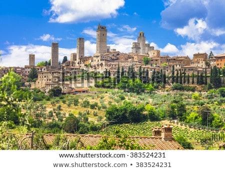 Toskana · İtalya · görmek · Bina · duvar - stok fotoğraf © boggy