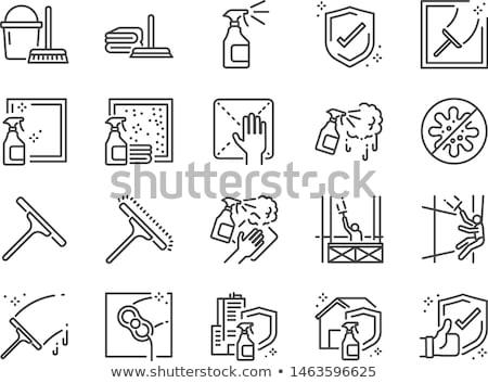 vector set of glass and mirror cleaner stock photo © olllikeballoon