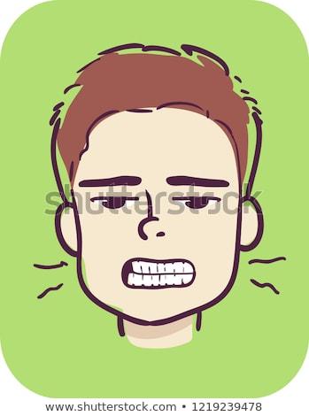Kid Boy Symptom Teeth Grinding Illustration Stock photo © lenm