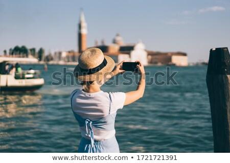 気楽な 女性 観光 ヴェネツィア 表示 ストックフォト © AndreyPopov