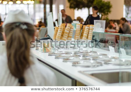 Stock fotó: Fagylalt · hideg · desszert · üzlet · nyár · épület
