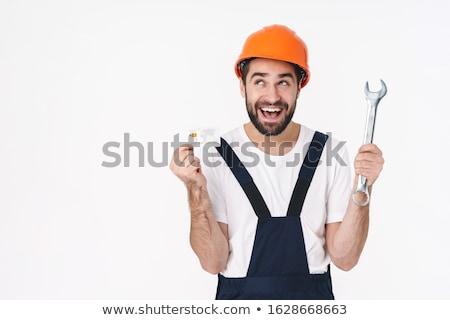 молодым человеком кредитных карт ключа глядя изображение Сток-фото © deandrobot