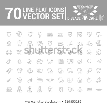 vector set of dentist Stock photo © olllikeballoon