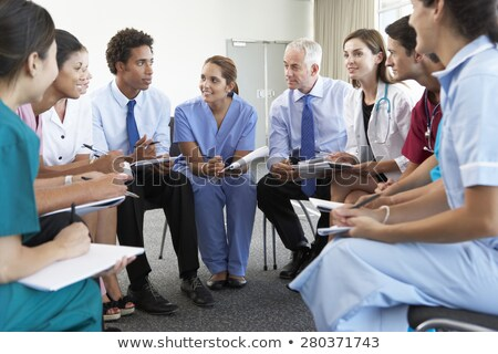 doctor and nurse discussing a case Stock photo © photography33