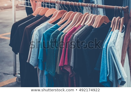 Pólók bolt ruházat szelektív fókusz divat városi Stock fotó © imarin