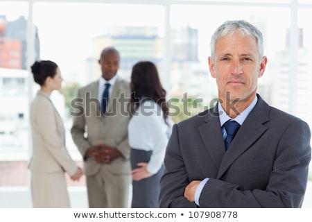 Ernstig volwassen zakenman team witte achtergrond Stockfoto © wavebreak_media