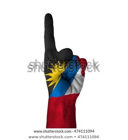 bandeira · polegar · para · cima · gesto · excelência · mão - foto stock © vepar5