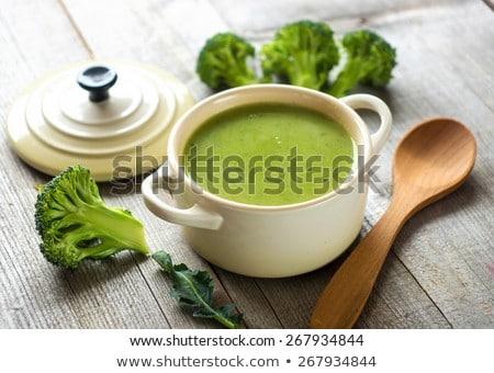 Broccoli soep hout achtergrond plantaardige maaltijd Stockfoto © M-studio