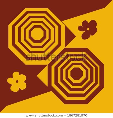 Gold Ornament braun kann benutzt Einladungskarte Stock foto © leonido