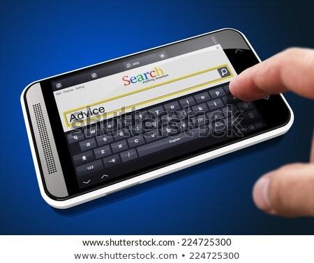 検索 · 文字列 · スマートフォン · 指 · ボタン · 現代 - ストックフォト © tashatuvango
