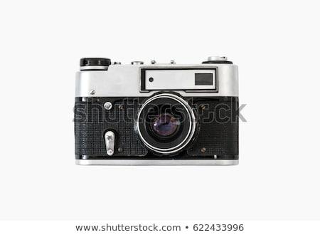 Vieux caméra plastique isolé blanche film Photo stock © Johny87