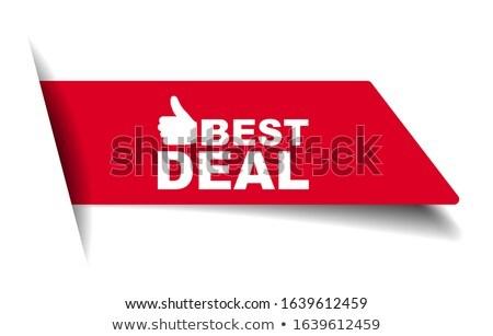 Felső akciók piros vektor ikon gomb Stock fotó © rizwanali3d