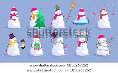 морозный подарок синий снега окна Сток-фото © HASLOO