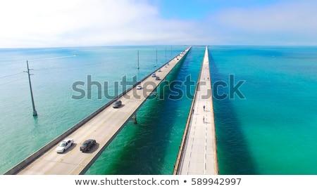 oude · brug · Florida · sleutels · Verenigde · Staten · bouw - stockfoto © meinzahn