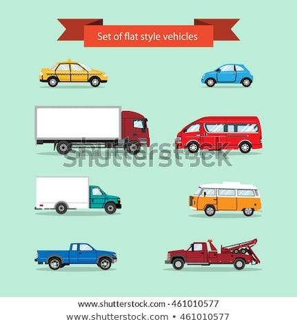 Kids riding on pick up truck Stock photo © bluering