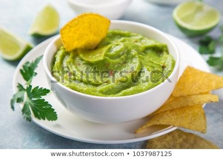 avocado Guacamole sauce Stock photo © Lana_M