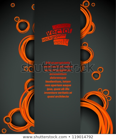 sale flyer promotional banner template design in dark black colo Stock photo © SArts
