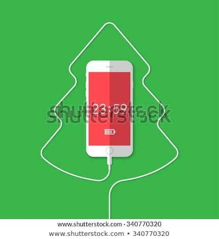 Christmas Tree Phone Charger Stock photo © albund