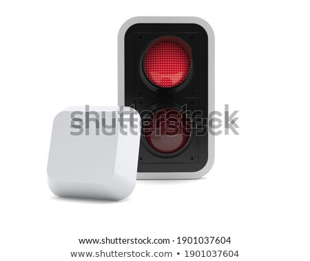 red stop key on keyboard 3d stock photo © tashatuvango