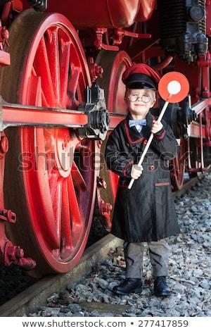 Boy Train Conductor Stock photo © cthoman