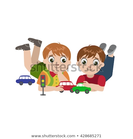 two boys playing on the road stock photo © colematt