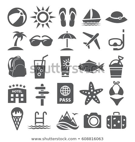 Verano iconos vector web móviles Foto stock © smoki
