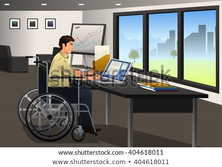 handicapped man working on computer stock photo © andreypopov