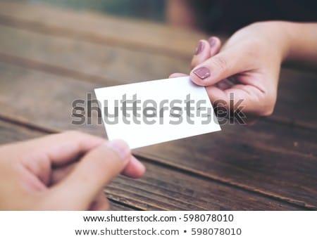 женщину · визитной · карточкой · ярко · фотография · бизнеса · бумаги - Сток-фото © dolgachov