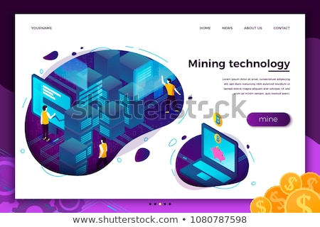 Gegevens mijnbouw landing pagina mensen Stockfoto © RAStudio