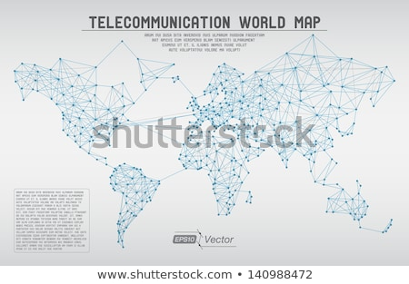 technology network connection blue mesh banner design Stock photo © SArts