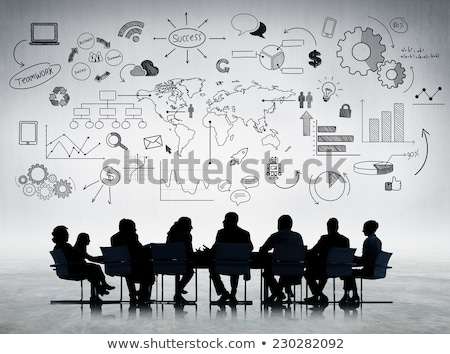 Business Education Men Discussing Financial Issues Stock photo © robuart
