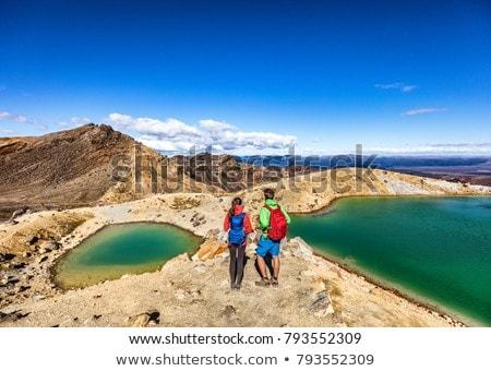 ニュージーランド 高山 ハイキング ハイカー 女性 袋 ストックフォト © Maridav