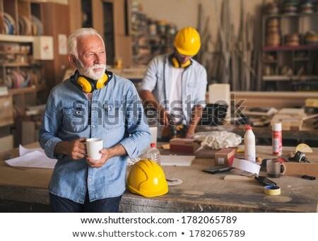 Thoughtful carpenter Stock photo © photography33
