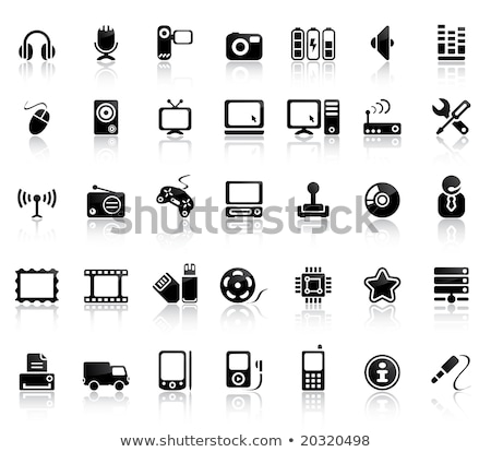 transport service set of black icons stock photo © ecelop