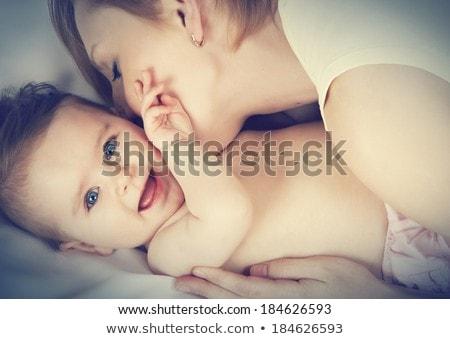 Mãe pé família mãos feliz Foto stock © Burchenko