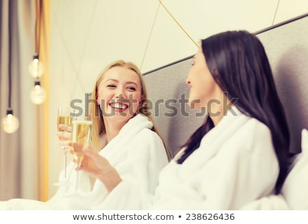 beautiful woman has a nice hen-party Stock photo © ssuaphoto